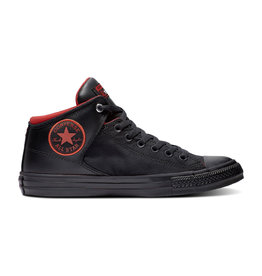 CONVERSE CHUCK TAYLOR ALL STAR HIGH STREET HI BLACK/BLACK/ENAMEL RED C998MOR-164883C