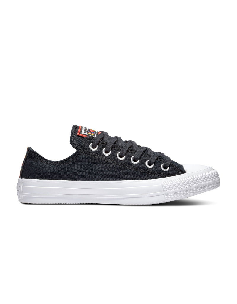 CONVERSE CHUCK TAYLOR ALL STAR OX BLACK/WHITE/HABANERO RED C13HAB-165426C