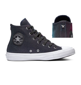 CONVERSE CHUCK TAYLOR ALL STAR HI LASER BLACK/PINK/PURE SILVER C19LAZ-564911C