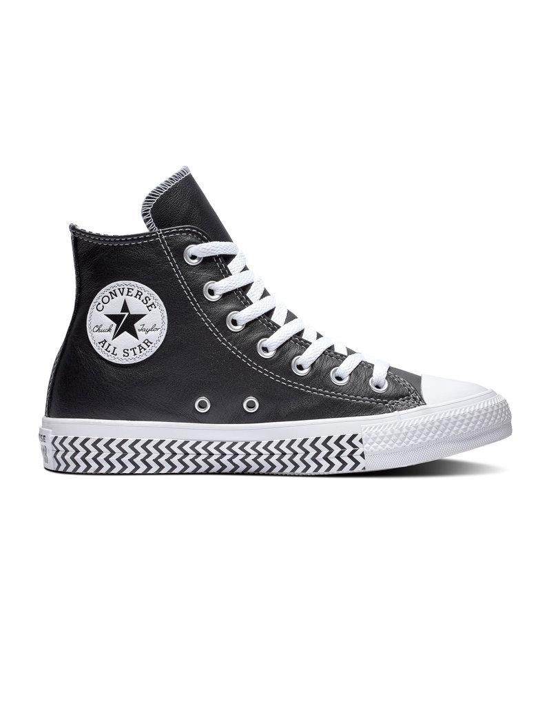 CONVERSE CHUCK TAYLOR ALL STAR HI CUIR BLACK/WHITE/WHITE CC19PSY-564943C