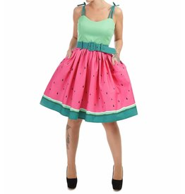COLLECTIF - Jade Watermelon Swing Dress