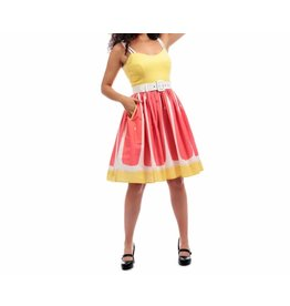 COLLECTIF - Jade Pink Grapefruit Swing Dress