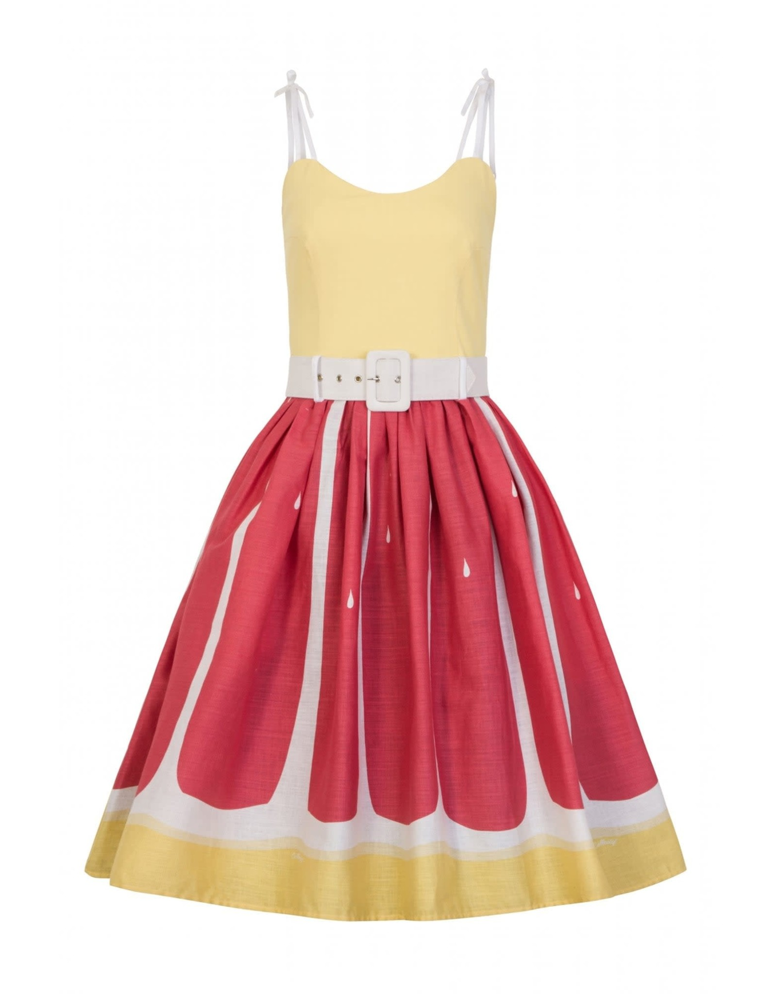 COLLECTIF - Jade Pink Grapefruit Swing Dress