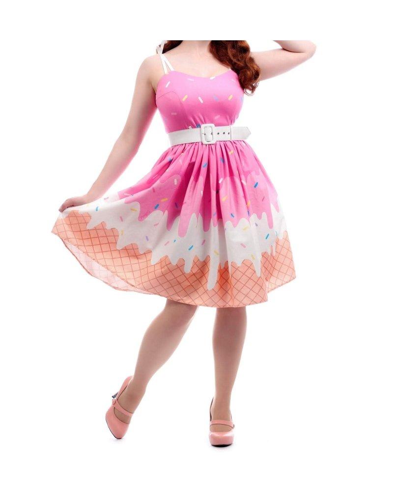 COLLECTIF - Jade Ice-cream Swing Dress