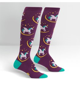 SOCK IT TO ME - Women's Wish Upon A Pegasus Knee High Funky Socks