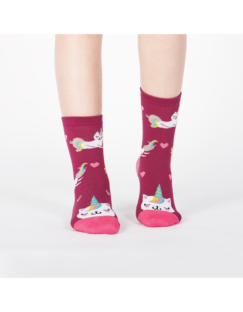 SOCK IT TO ME - Junior Look At Me Meow Crew Socks