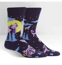 SOCK IT TO ME - Men's 6 Wolf Moon Crew Socks