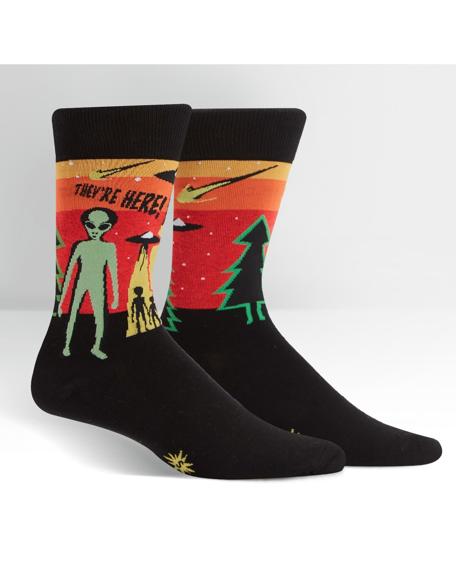 SOCK IT TO ME - Men's They're Here Crew Socks