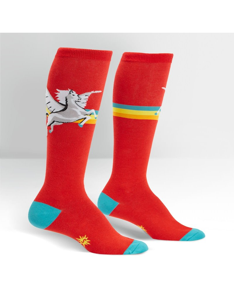 SOCK IT TO ME - Women's Retro Pegasus Stretch-It Knee High Socks