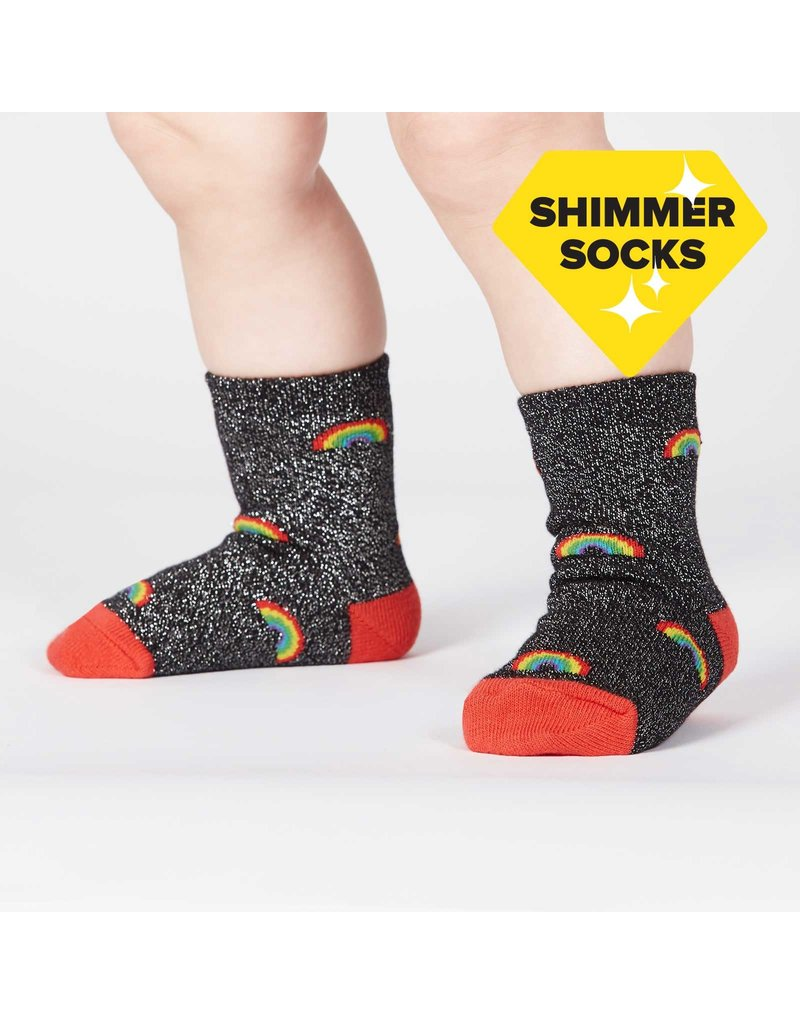 SOCK IT TO ME - Toddler Glitter Over The Rainbow (Lurex) Crew Socks