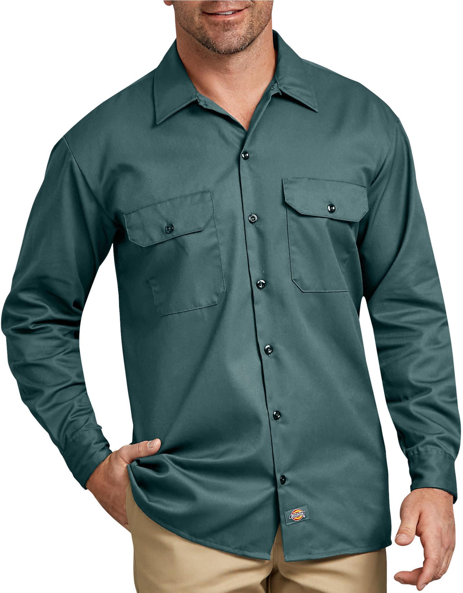 DICKIES Long Sleeve Button Work Shirt