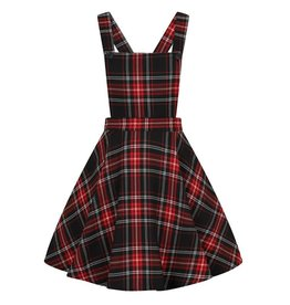 HELL BUNNY - Islay Pinafore Red Dress