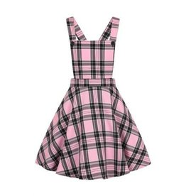 HELL BUNNY - Islay Pinafore Pink Dress