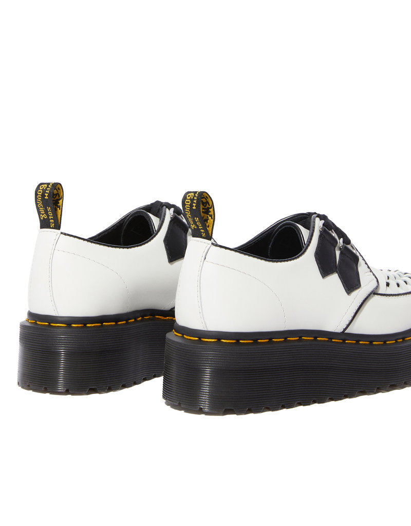 DR. MARTENS SIDNEY BLACK & WHITE POLISHED SOOTH 242BW-R24994101