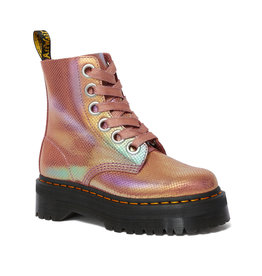 DR. MARTENS MOLLY PINK IRIDESCENT TEXTURE 653PIT-R25241650