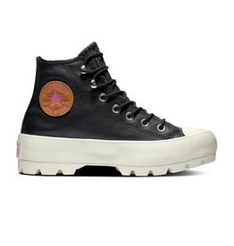CONVERSE CHUCK TAYLOR ALL STAR LUGGED WINTER HI LEATHER BLACK/MOD PINK CC994BO-565006C
