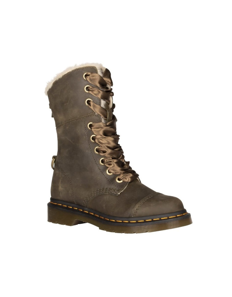 DR. MARTENS AIMILITA FUR-LINED DMS OLIVE WYOMING 901OFUR-R24999355