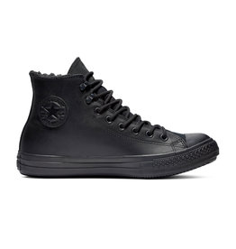 CONVERSE CHUCK TAYLOR ALL STAR WINTER HI CUIR BLACK/BLACK/BLACK CC19MOB-165935C