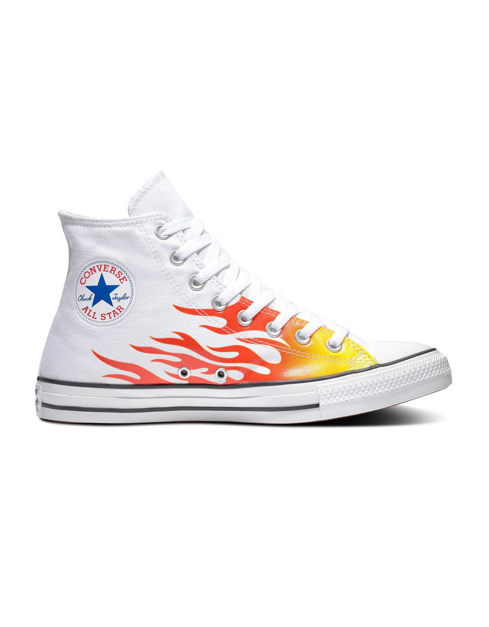 CONVERSE CHUCK TAYLOR ALL STAR HI WHITE/ENAMEL RED/FRESH YELLOW C19FLAW-166257C
