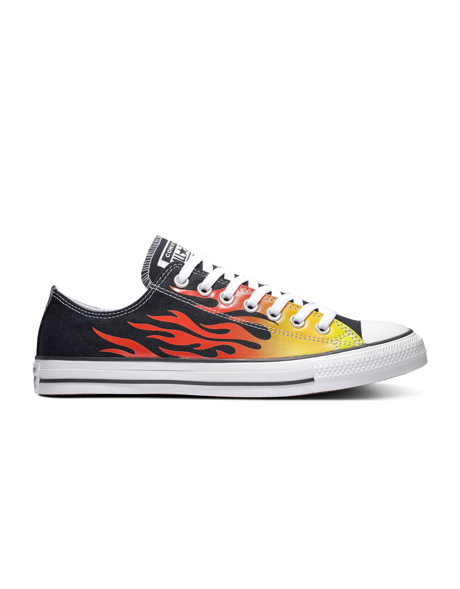 CONVERSE CHUCK TAYLOR ALL STAR OX BLACK/ENAMEL RED/FRESH YELLOW C13FLAB-166259C