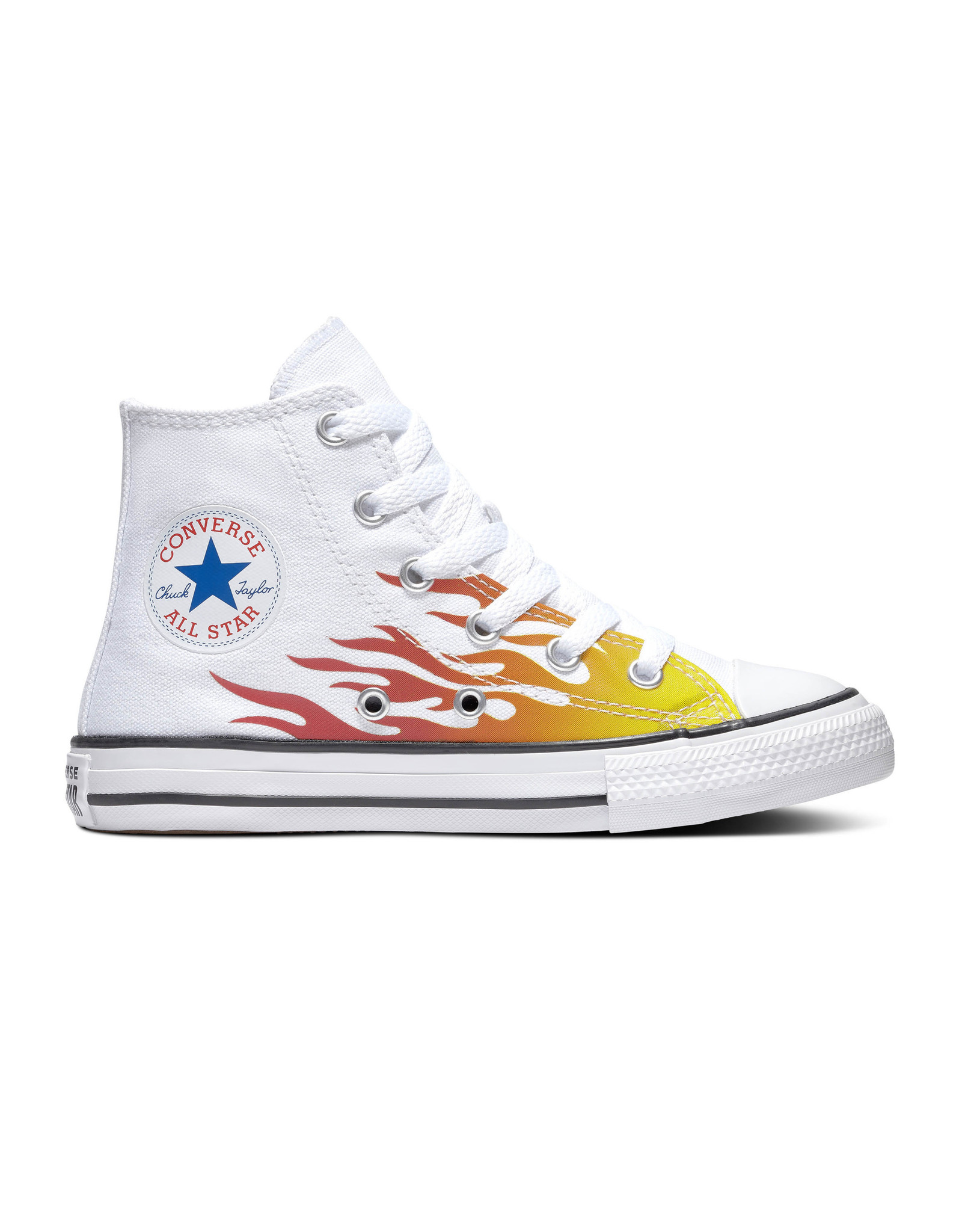 CONVERSE CHUCK TAYLOR ALL STAR HI WHITE/ENAMEL RED/FRESH YELLOW CZFLAW-366196C