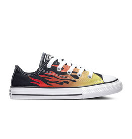CONVERSE CHUCK TAYLOR ALL STAR OX BLACK/ENAMEL RED/FRESH YELLOW CZFLAB-366197C