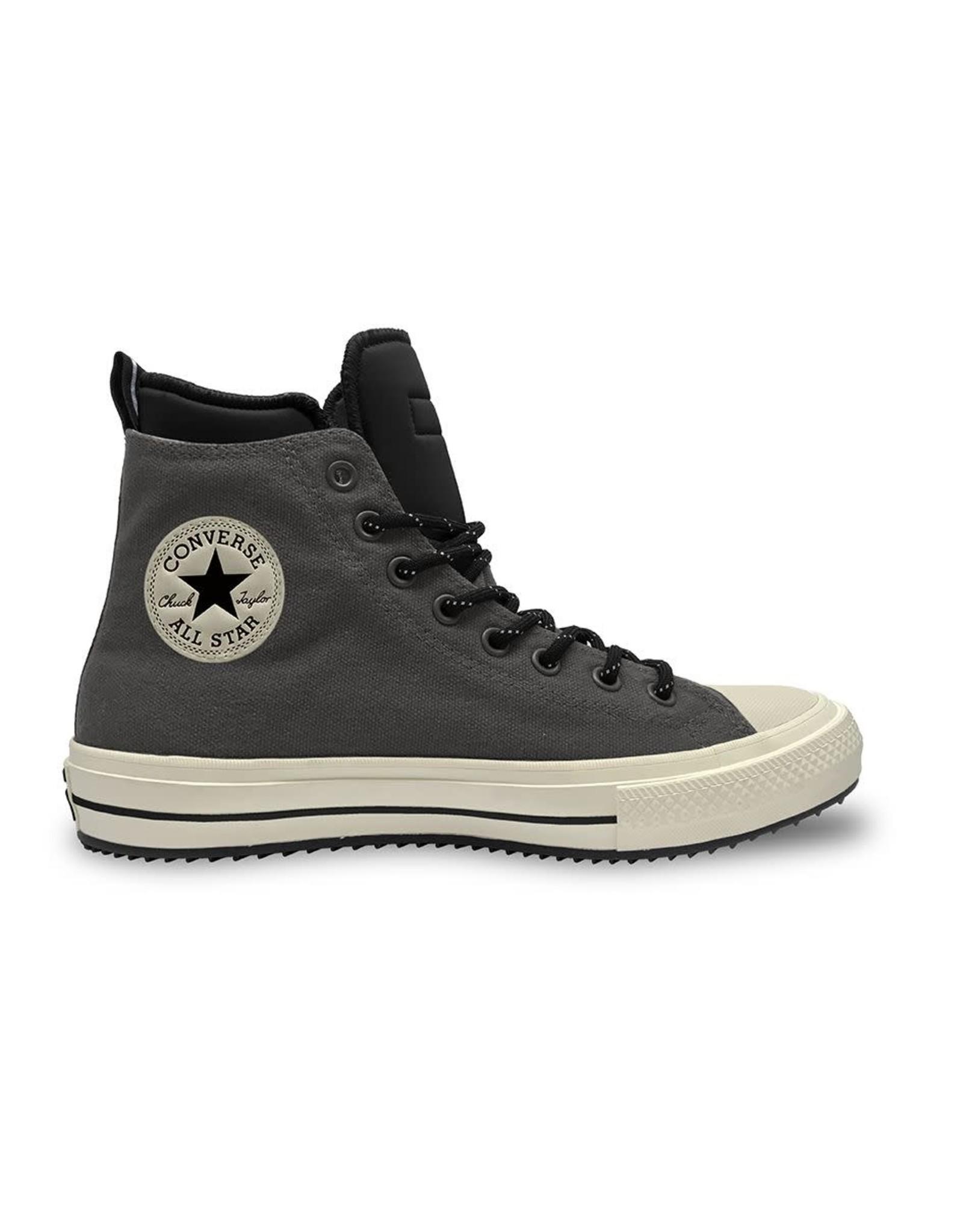 CONVERSE CHUCK TAYLOR ALL STAR BOOT HI CUIR CARBON GREY/BLACK/EGRET CC19BOC-166608C