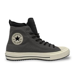 CONVERSE CHUCK TAYLOR ALL STAR BOOT HI LEATHER CARBON GREY/BLACK/EGRET CC19BOC-166608C