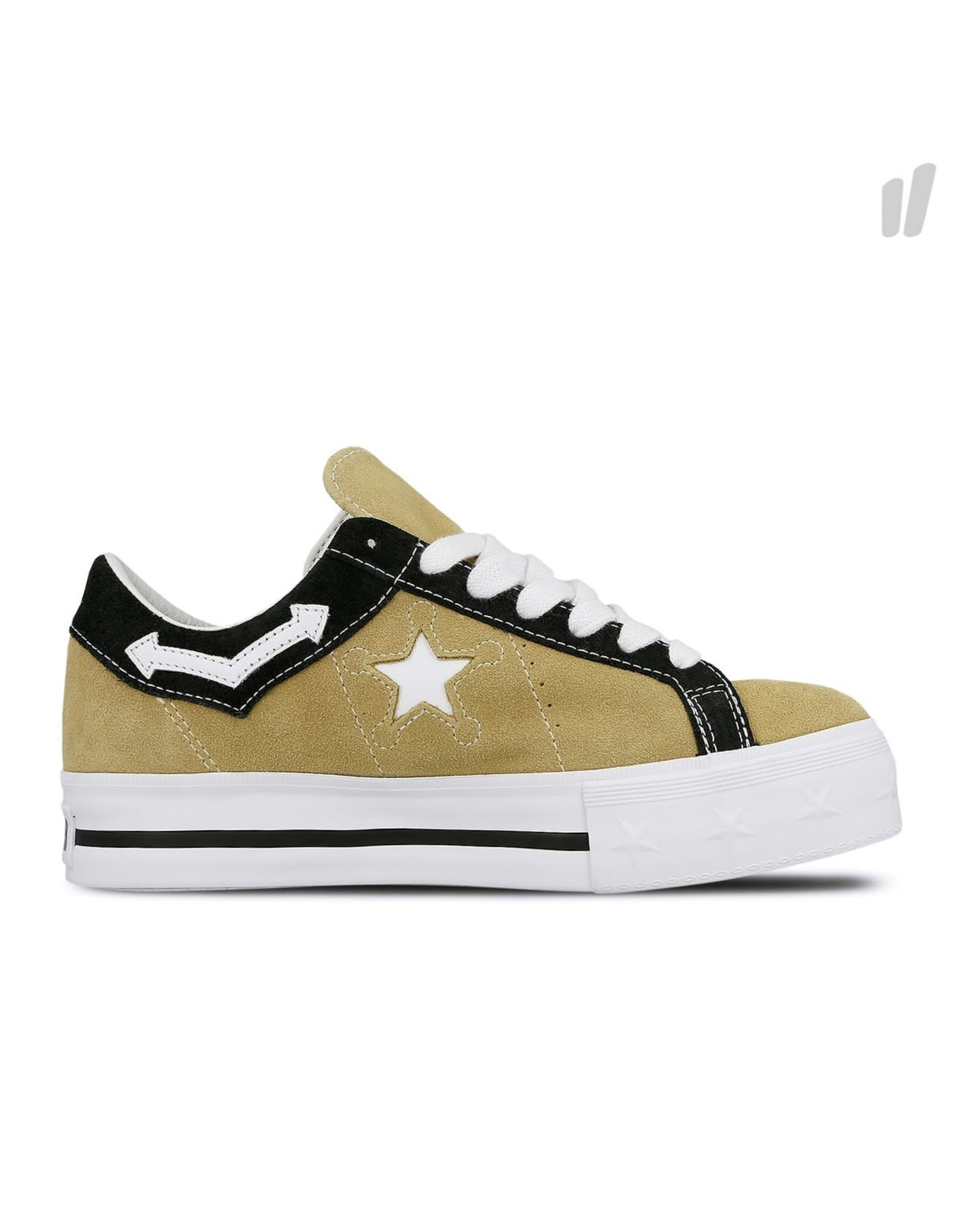 CONVERSE ONE STAR PLATFORM OX SUEDE WOOD ASH/WHITE C987PW-563731C