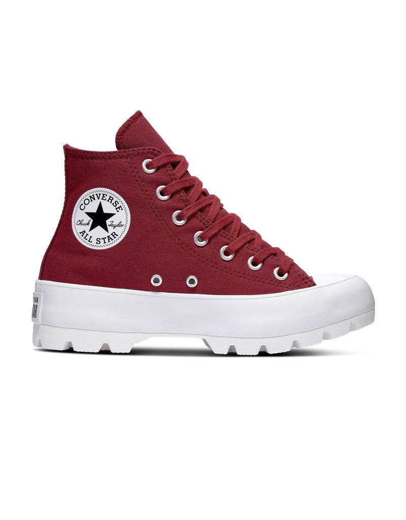 CONVERSE CHUCK TAYLOR ALL STAR LUGGED HI DARK BURGUNDY C994DAB-566284C