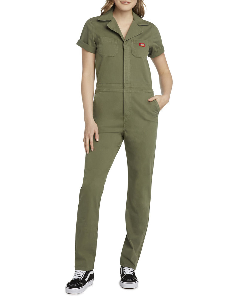 Dickies Girl Cuffed Short Sleeve Relaxed Fit Coverall  J2012BT