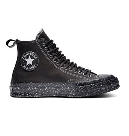 CONVERSE CHUCK 70 HI LEATHER BLACK/BLACK/WHITE CC970BI-166280C