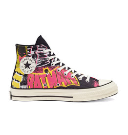 CONVERSE CHUCK 70 HI CANVAS BATMAN BLACK/HOT PINK/EGRET C970BATB-167317C