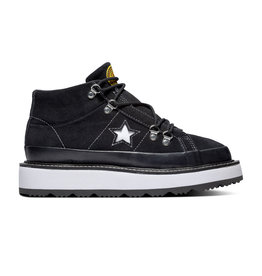 CONVERSE ONE STAR BOOT MID SUEDE BLACK/WHITE/BLACK C993B-566163C