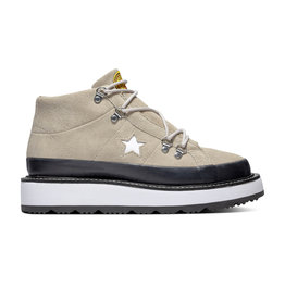CONVERSE ONE STAR BOOT MID SUEDE PAPYRUS/BLACK/WHITE C993PA-566164C