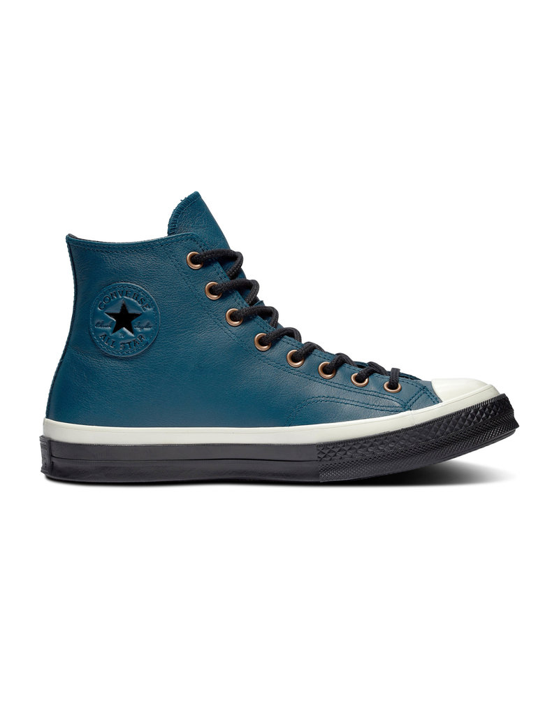 CONVERSE CHUCK 70 HI MIDNIGHT LEATHER TURQ/EGRET/BLACK CC970MIT-165922C