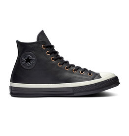 CONVERSE CHUCK 70 HI LEATHER BLACK/ALMOST BLACK/BLACK CC970B-165923C