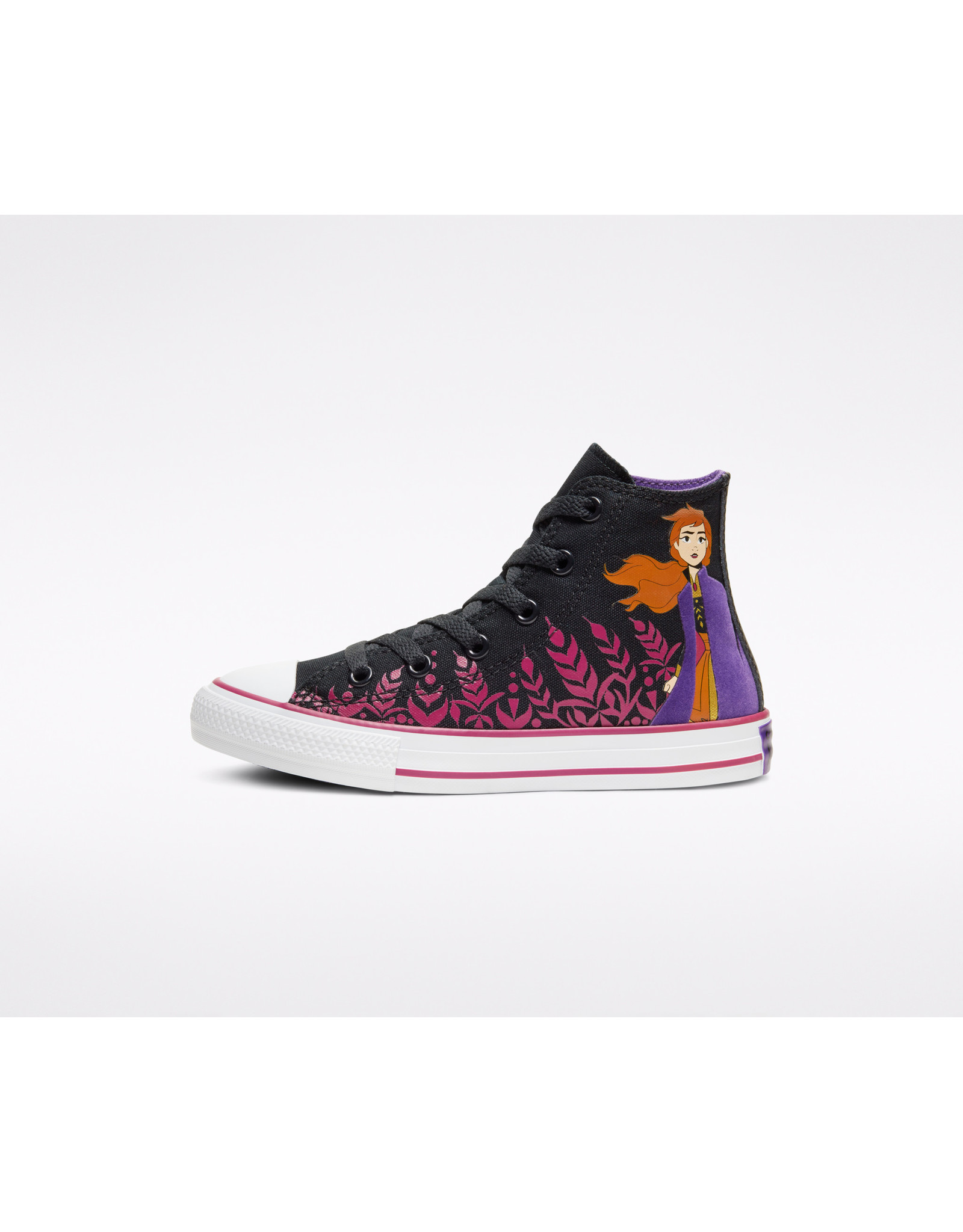 CONVERSE CHUCK TAYLOR ALL STAR HI FROZEN 2 BLACK/CHERRIES JUBILEE/WHITE CZFZJ-667355C