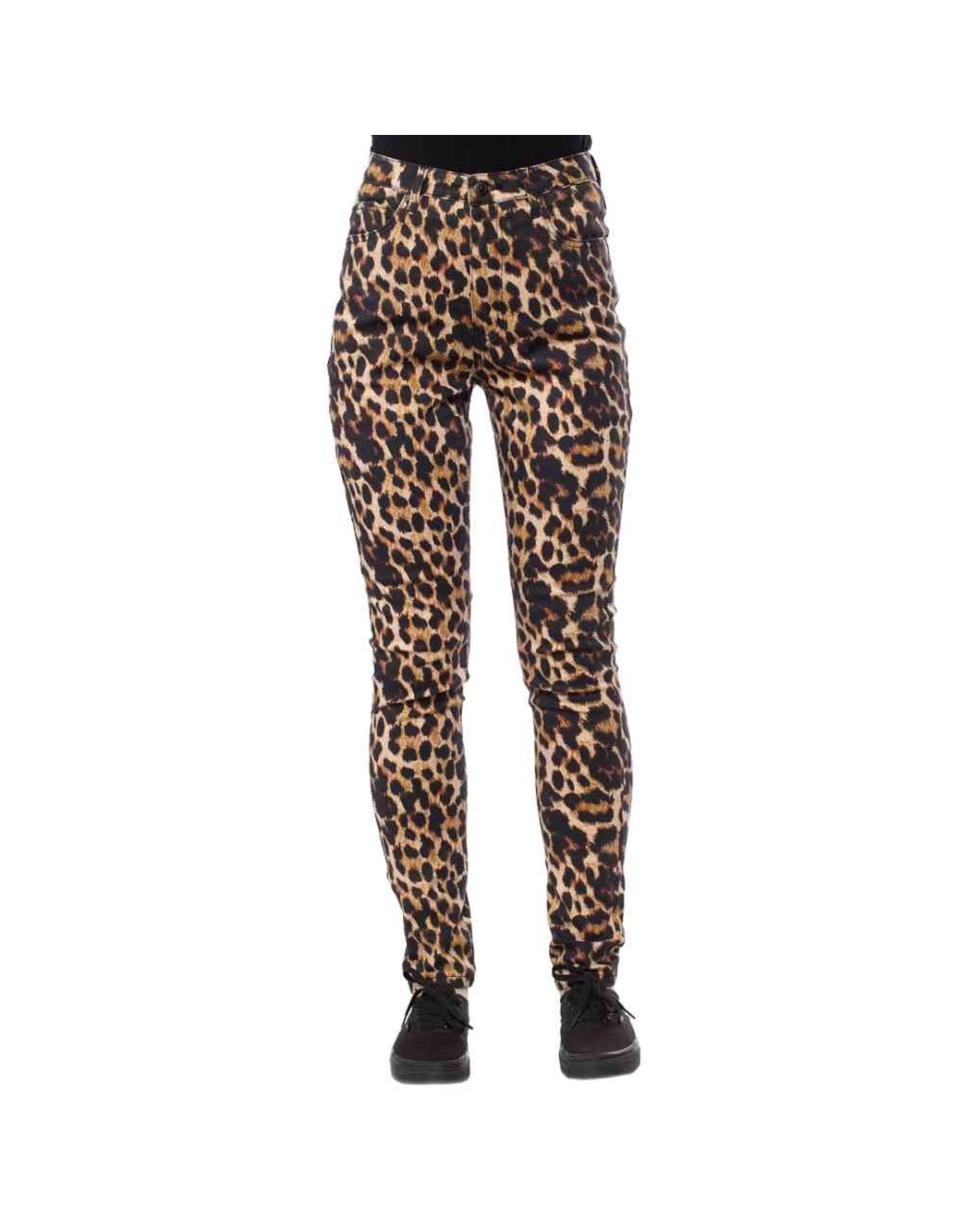 SOURPUSS - Essential 5 Pocket Pants Leopard
