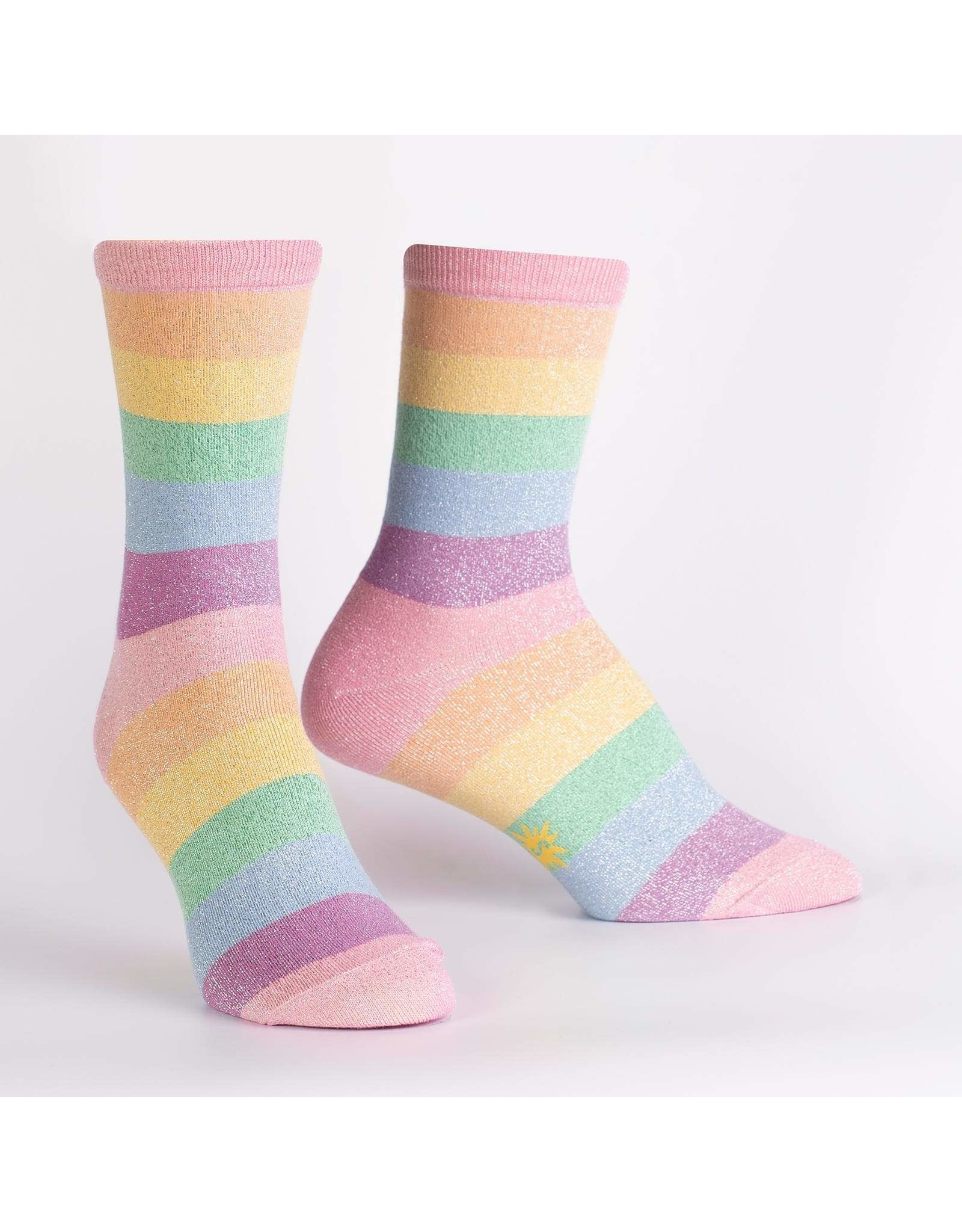 SOCK IT TO ME - Women's Pastel Prismatic Crew Socks