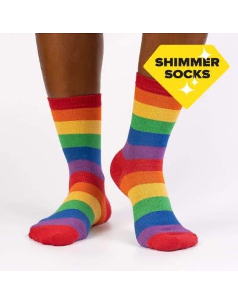 SOCK IT TO ME - Women's Radiant Rainbow Crew Sock
