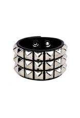 FUNKPLUS - Bracelet 3 Rows Silver Studs