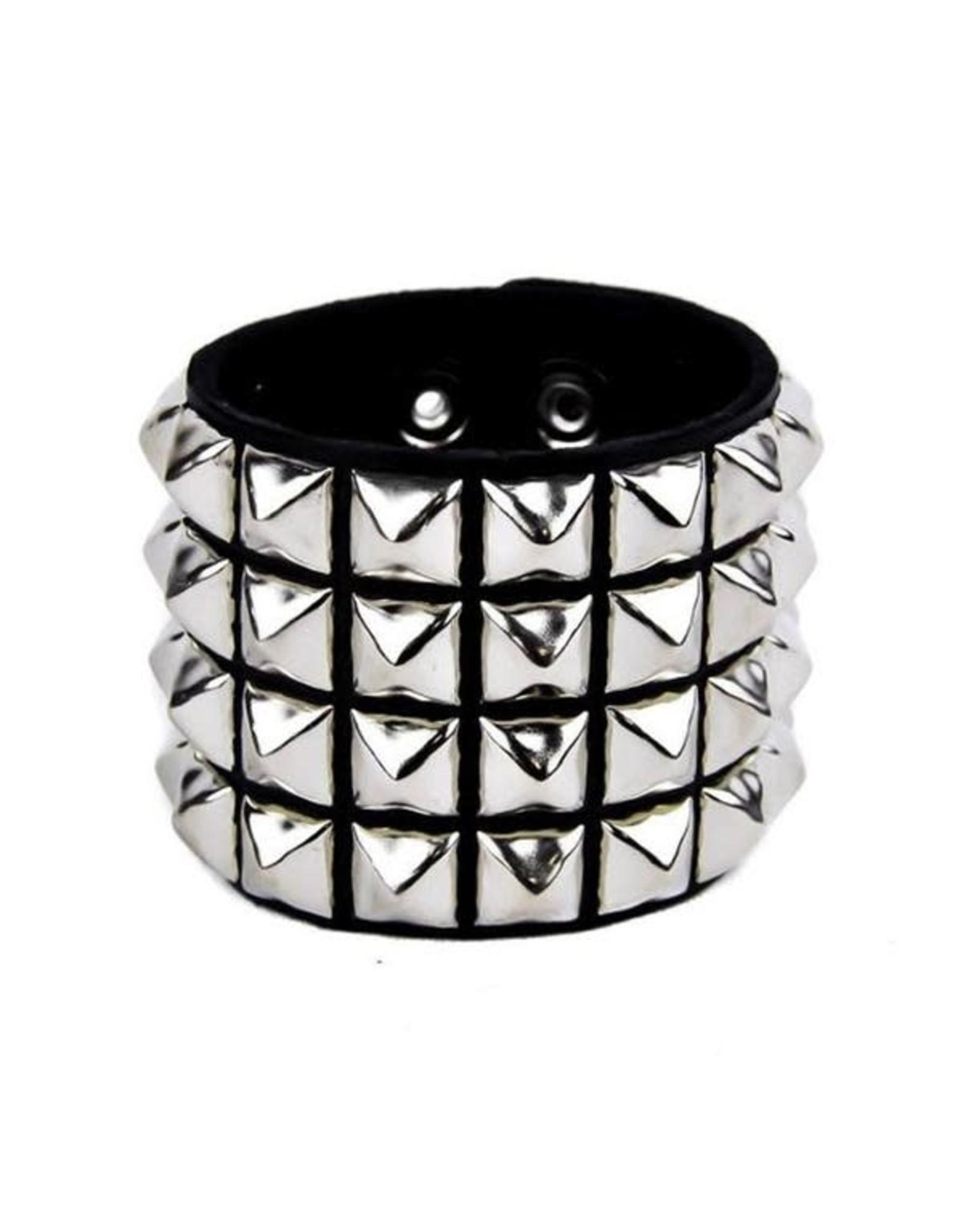 FUNKPLUS - Bracer 4 Rows Silver Studs