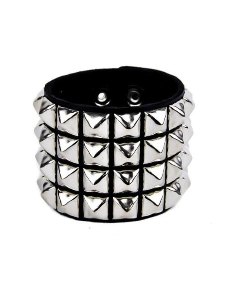 FUNKPLUS - Bracelet 4 Rows Silver Studs