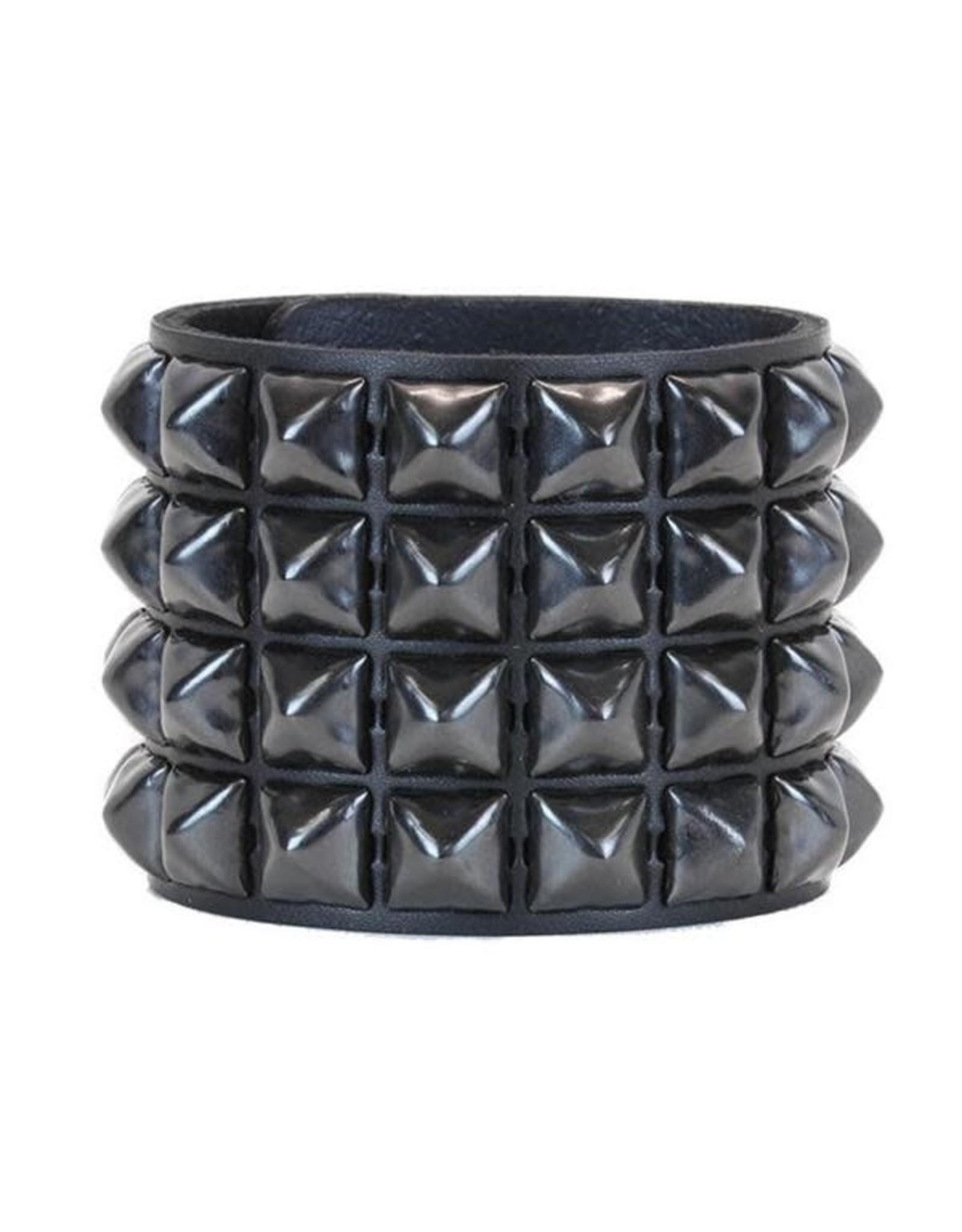 FUNKPLUS - Bracer 4 Rows Black Studs