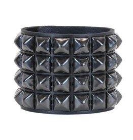 FUNKPLUS - Bracelet 4 Rows Black Studs