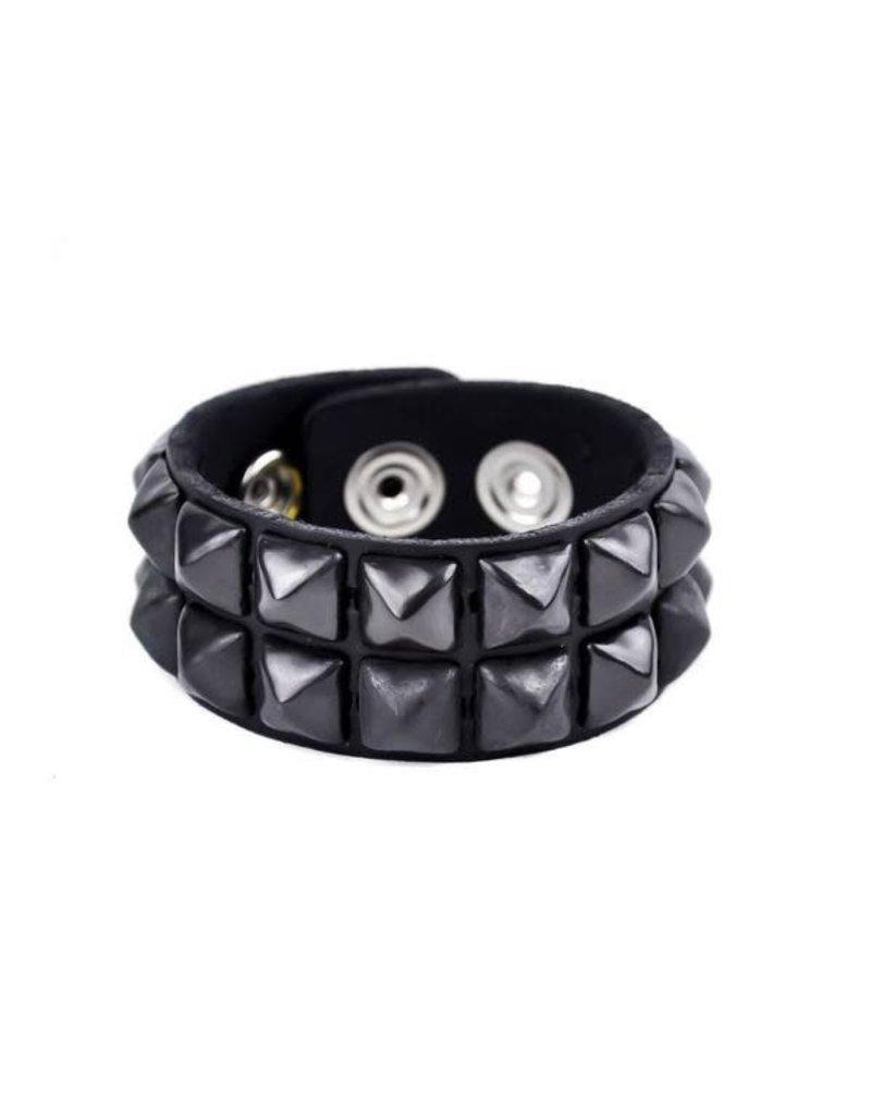 FUNKPLUS - Bracer 2 Rows Black Studs