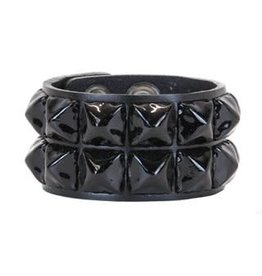 FUNKPLUS - Bracer 2 Rows Big Black Studs