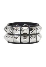 FUNKPLUS - Bracelet 2 Rows Studs Silver