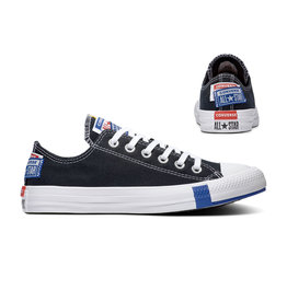 CHUCK TAYLOR ALL STAR  OX BLACK/RUSH BLUE/UNIVERSITY RED C14LOB-166738C